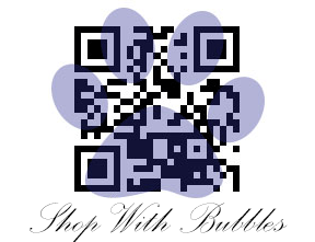 Shop With Bubbles QR Code Logo