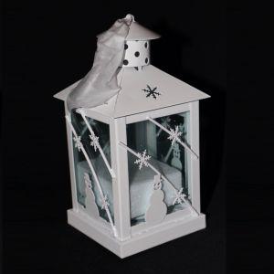 Avon Tealight Lantern White Snowman