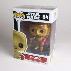 Pop! C-3po Vinyl Bobble Head With Red Arm