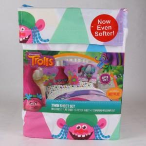 Dreamworks Trolls Kids Twin Sheet Set Polyester Pink