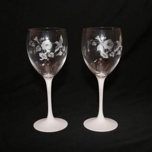 Avon Hummingbird Crystal Goblets Set Of 2