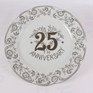 25 Anniversary Decorative Plate By Norcrest Fine China
